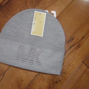 michael kors grey knit hat new with tags o/s